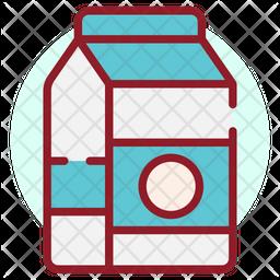 Milk Carton Colored Outline Icon