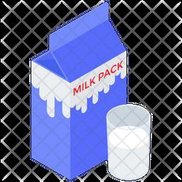Milk Pack Container Icon