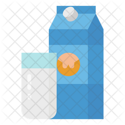 Milk Package Flat Icon