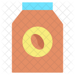 Milk Packet Flat Icon