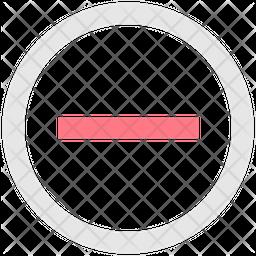 Minus Line Icon