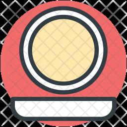 Mirror Colored Outline Icon