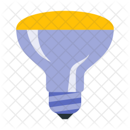 Mirrored reflector bulb Icon