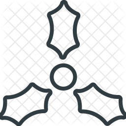 Mistletoe Line Icon