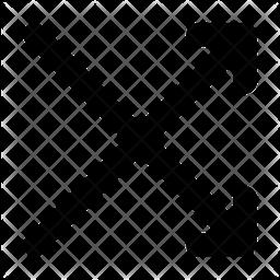 Mix Arrow Line Icon