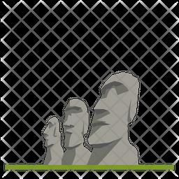 Moai Heads Icon