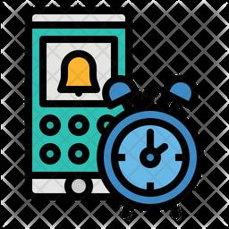 Mobile Alerm Colored Outline Icon