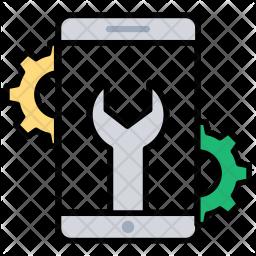 Mobile App Development Colored Outline Icon
