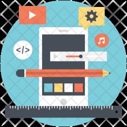 Mobile App Illustration Icon