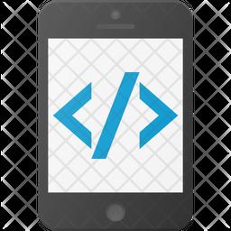 Mobile Application Coding Icon