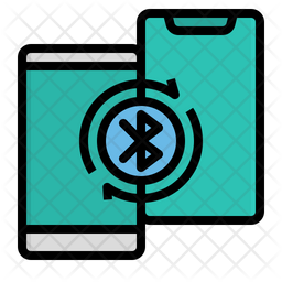 Mobile Bluetooth Colored Outline Icon