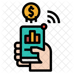 Mobile Business Colored Outline Icon