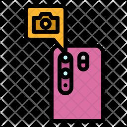 Mobile Camera Colored Outline Icon