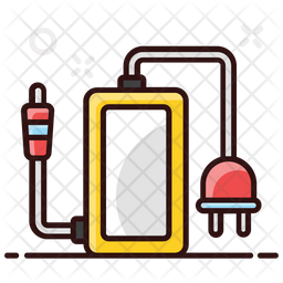 Mobile Charger Colored Outline Icon