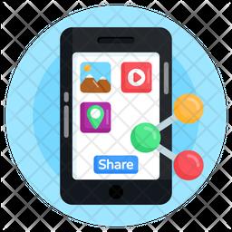 Mobile Data Sharing Flat Icon