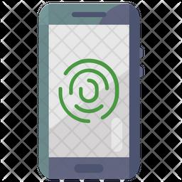 Mobile Fingerprint Lock Icon