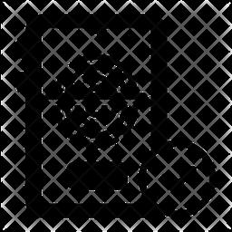 Mobile Fingerprint Login Icon