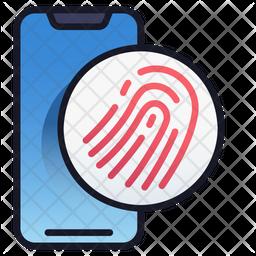 Mobile fingerprint scanner Icon