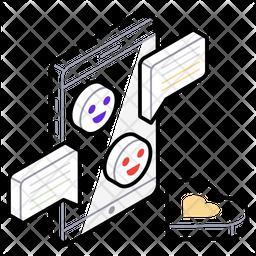 Mobile Hotspot Isometric  Logo Icon