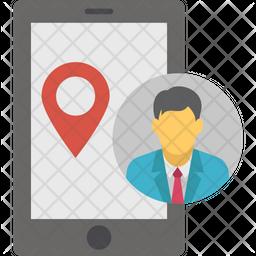 Mobile location Flat Icon