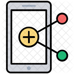 Mobile Marketing Colored Outline Icon