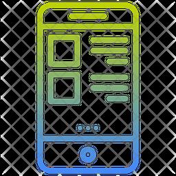 Mobile Menu Gradient Icon