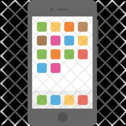 Mobile Menu Screen Icon