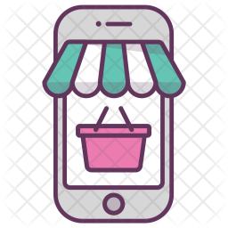 Mobile, Online, Shop, Store, Bag, Bucket Icon