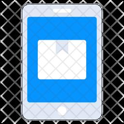 Mobile Parcel Flat Icon