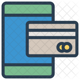 Mobile Payment Colored Outline Icon