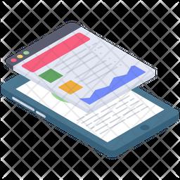 Mobile Phone Analytics Icon