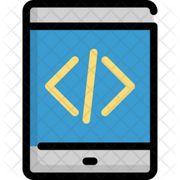Mobile programming Colored Outline Icon