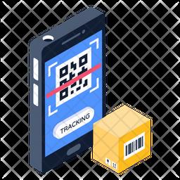 Mobile Scanning Isometric Icon