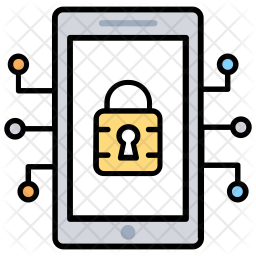 Mobile Security Colored Outline Icon
