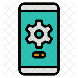 Mobile Setting Colored Outline Icon