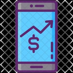 Mobile Stocks Icon
