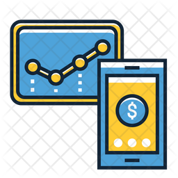 Mobile Stocks Colored Outline Icon