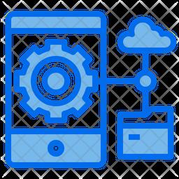Mobile Storage Management Dualtone Icon