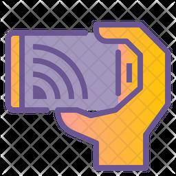 Mobile Stream Colored Outline Icon