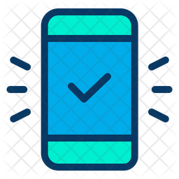 Mobile Tic Colored Outline Icon