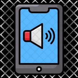 Mobile Volume Colored Outline Icon