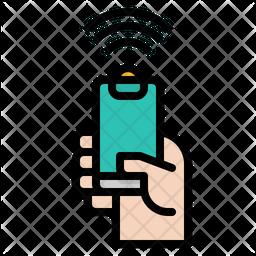 Mobile Wifi Colored Outline Icon