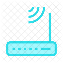 Modem Colored Outline Icon