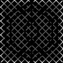 Molecule Line Icon