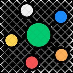 Molecule Colored Outline Icon