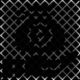 Money Bag Glyph Icon