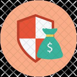 Money bag shield Icon