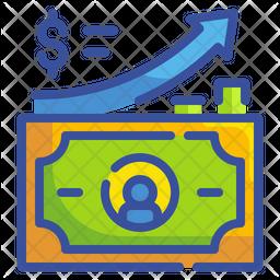 Money increment Icon