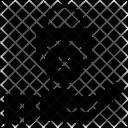 Money Lock Glyph Icon