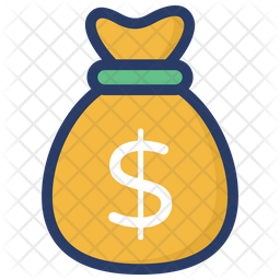 Money Sack Colored Outline Icon
